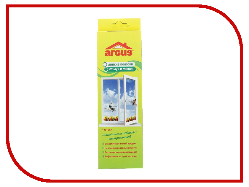 Средство защиты от мух ARGUS 841865 - клеевая оконная ловушка