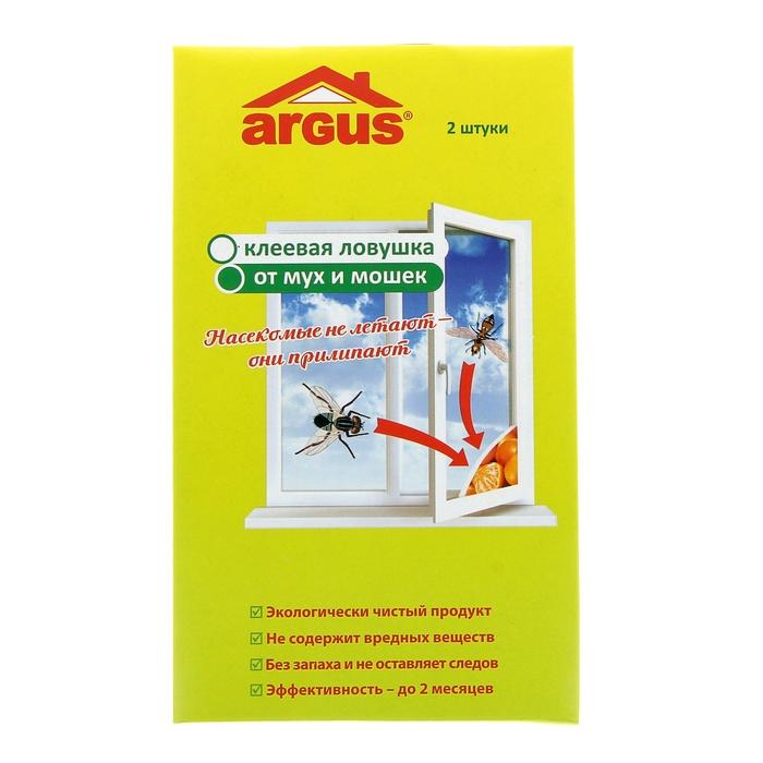 Средство защиты от мух ARGUS 841866 - клеевая оконная ловушка средство защиты от мух peleg design fly sword blue pe812