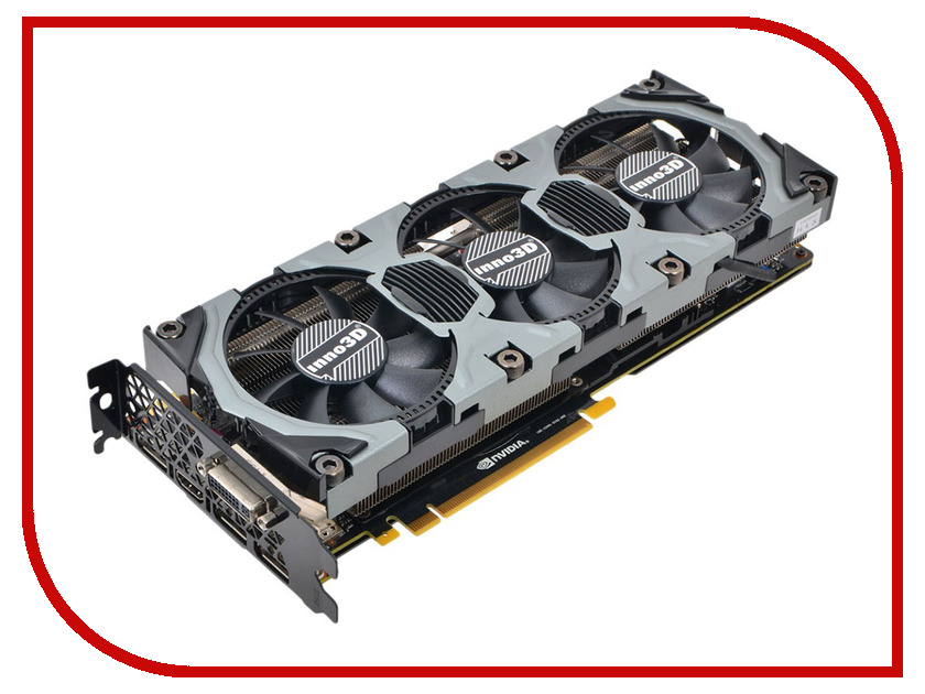 Видеокарта Inno3D GeForce GTX 980 1152Mhz PCI-E 3.0 4096Mb 7000Mhz 256 bit DVI HDMI HDCP N98V-1SDN-M5DNX