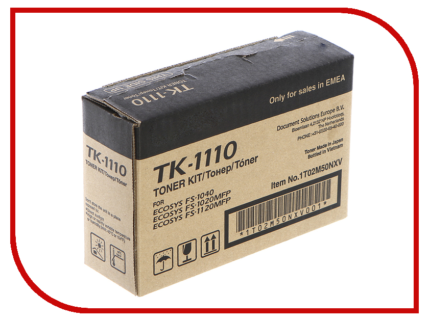 Картридж Kyocera TK-1110 для FS-1110/1024MFP/1124MFP/FS-1120MFP Black 1T02M50NX0 alzenit for kyocera dk 1110 fs 1040 1020 1120mfp 1060 p1025d oem new imaging drum unit printer parts on sale