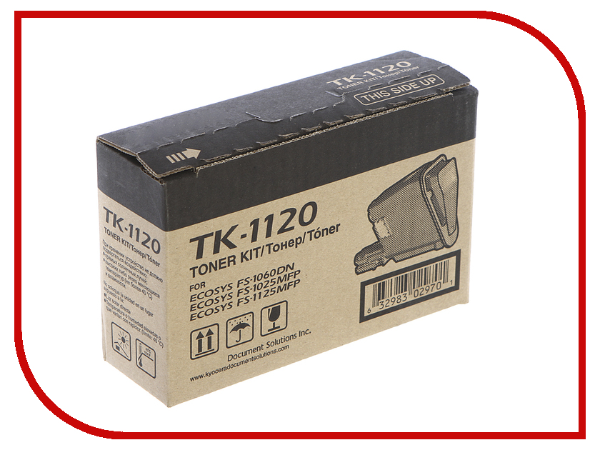 Картридж Kyocera TK-1120 для FS-1060DN/FS-1025MFP/FS-1125MFP Black 1T02M70NX0 new original kyocera 302m594080 fax unit e for fs 1120 1125