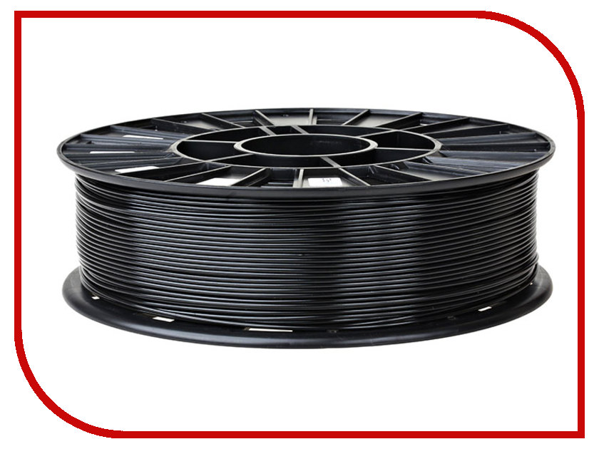 Аксессуар REC PLA-пластик 1.75mm Black 750гр<br>