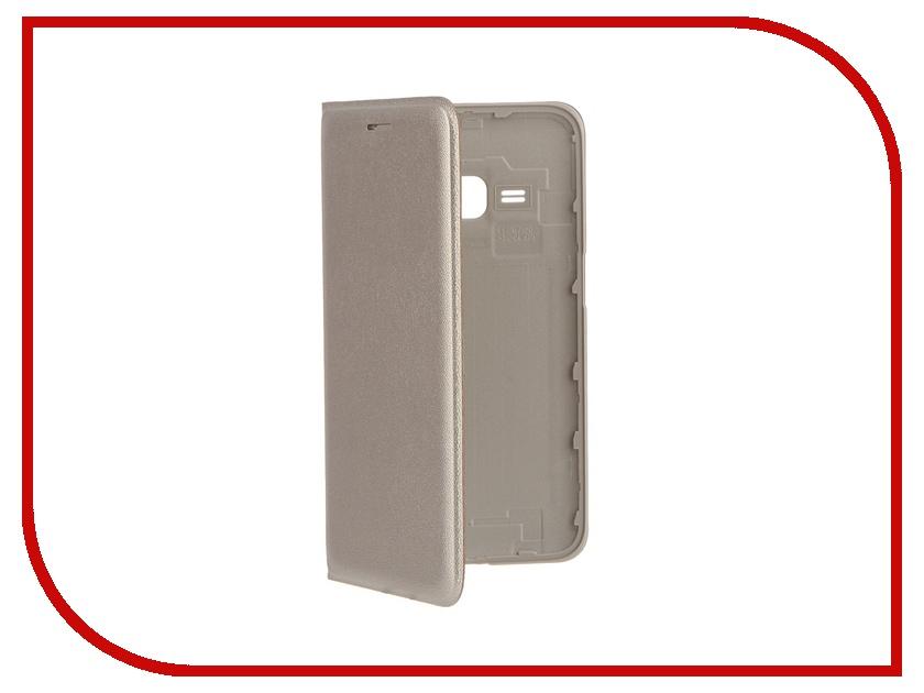 Аксессуар Чехол Samsung SM-J120 Galaxy J1 Flip Wallet Golden EF-WJ120PFEGRU<br>
