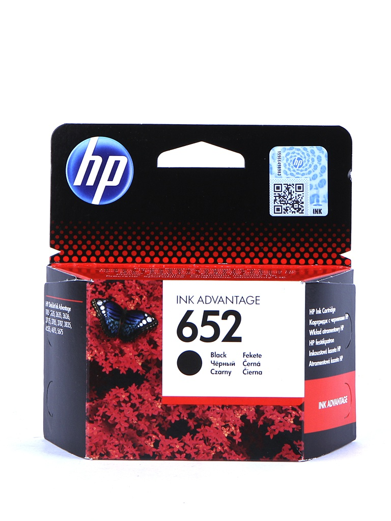 Картридж HP 652 F6V25AE Black для Deskjet Ink Advantage 1115/2135/3635/3835/4535/4675 цена