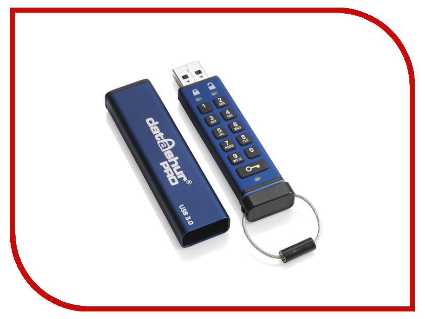 USB Flash Drive 16Gb - iStorage DatAshur Pro 256-bit IS-FL-DA3-256-16<br>