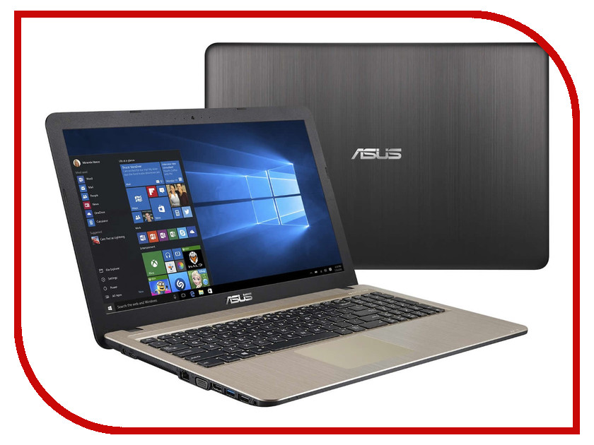 Ноутбук ASUS R540SA 90NB0B31-M00840 (Intel Celeron N3050 1.6 GHz/2048Mb/500Gb/No ODD/Intel HD Graphics/Wi-Fi/Bluetooth/Cam/15.6/1366x768/Windows 10)<br>