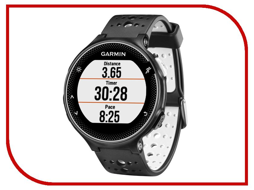 Умные часы Garmin Forerunner 230 Black-White HRM3 010-03717-46 умные часы garmin forerunner 235 black grey 010 03717 55