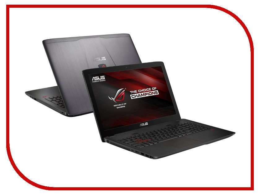 Ноутбук ASUS ROG GL552VW-CN480T 90NB09I3-M05670 (Intel Core i7-6700HQ 2.6 GHz/8192Mb/2000Gb + 128Gb SSD/DVD-RW/nVidia GeForce GTX 960M 2048Mb/Wi-Fi/Cam/15.6/1920x1080/Windows 10 64-bit)<br>