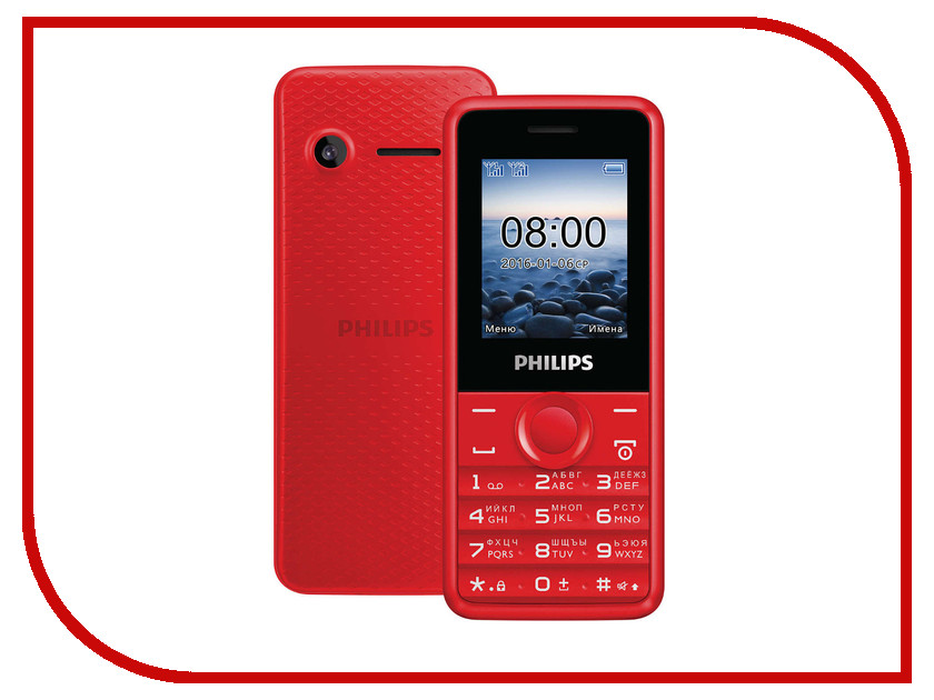 Сотовый телефон Philips E103 Xenium Red<br>