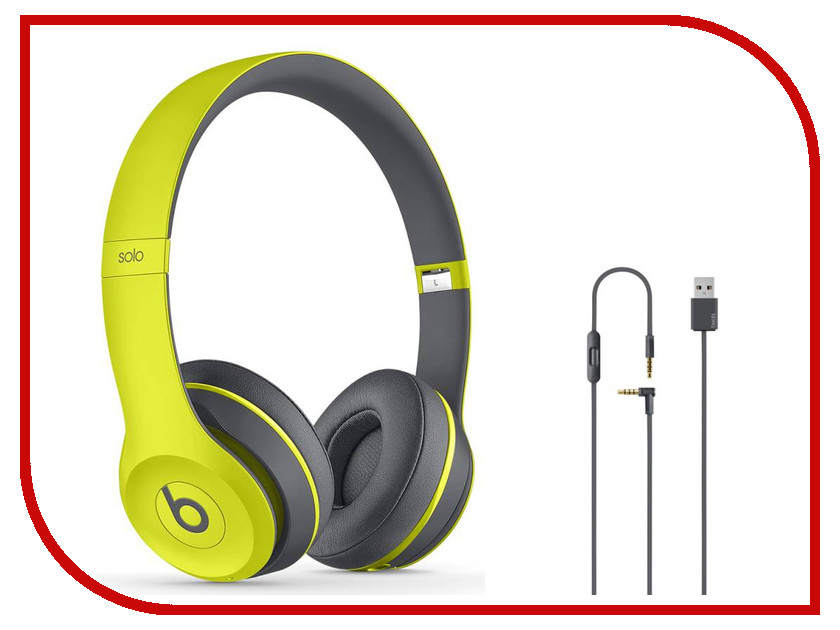 Гарнитура Beats Solo 2 WL SE2 Active Collection Yellow MKQ12ZE/A<br>