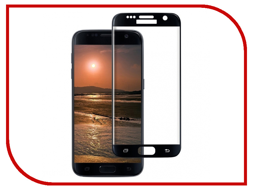 Аксессуар Защитное стекло для Samsung Galaxy S7 Ainy Full Screen Cover 3D 0.33mm Black AF-S466A цена 2017