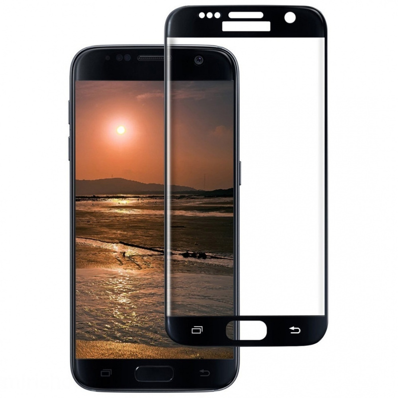 Аксессуар Защитное стекло Ainy для Samsung Galaxy S7 Full Screen Cover 3D 0.33mm Black AF-S466A for lenovo zuk z2 lcd screen display with touch screen digitizer panel glass assembly black white replacement parts free shipping
