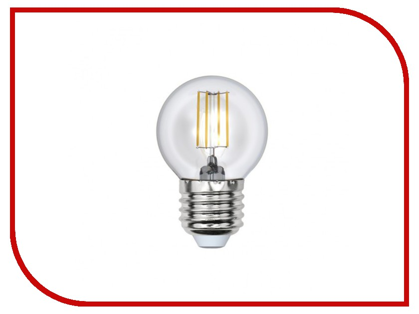 Лампочка Uniel LED-G45-6W/WW/E27/CL PLS02WH лампочка uniel il f25 cl 15 e14 01854