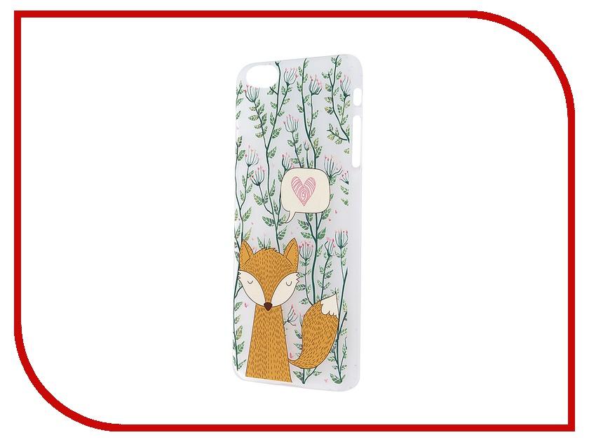 Аксессуар Чехол iPapai для iPhone 6 Plus Флора Лиса Transparent<br>