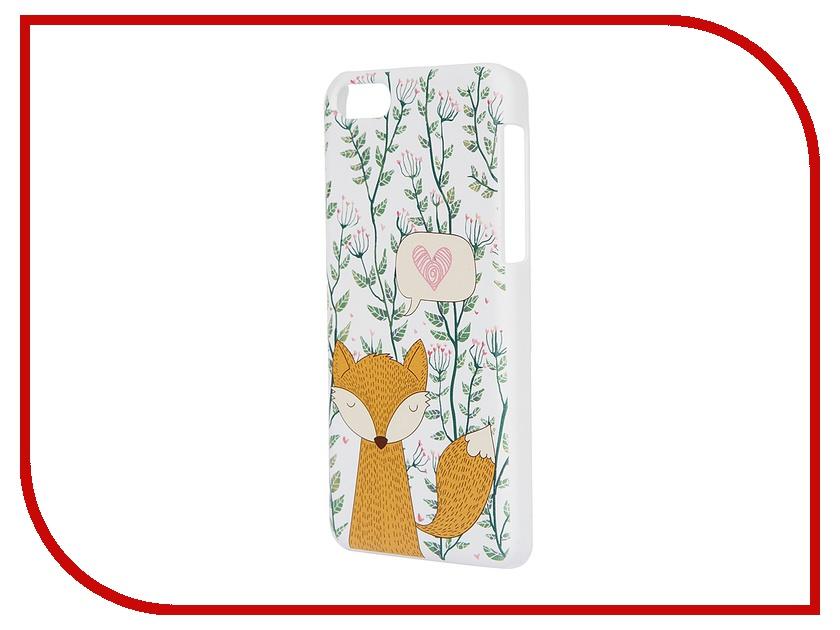 Аксессуар Чехол iPapai для iPhone 5C Флора Лиса White<br>