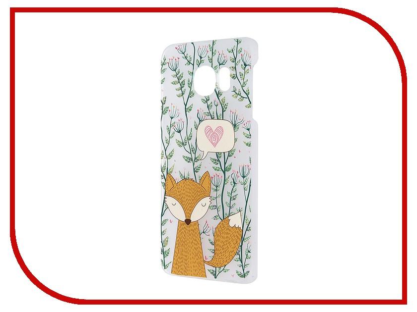 Аксессуар Чехол-накладка Samsung G925F Galaxy S6 Edge iPapai Флора Лиса Transparent<br>