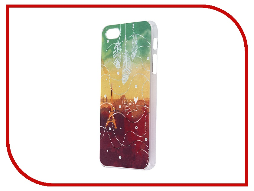 Аксессуар Чехол iPapai для iPhone 5 Города Париж Transparent<br>