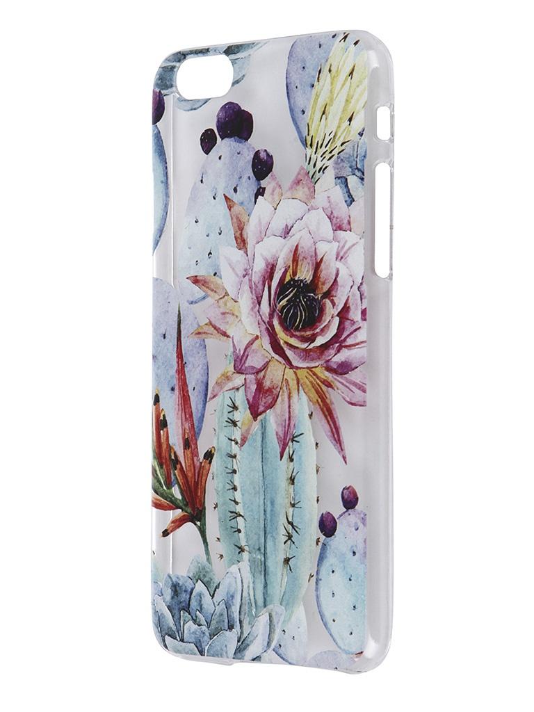 Аксессуар Чехол iPapai для iPhone 6 / 6S Флора Цветущий кактус<br>