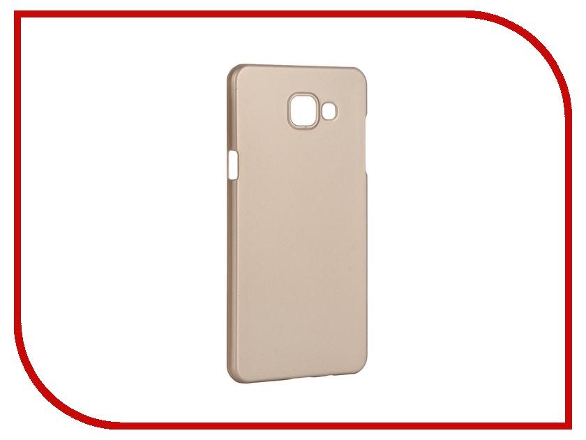 Аксессуар Чехол-накладка Samsung Galaxy A5 2016 Pulsar Clipcase PC Soft-Touch Gold PCC0190<br>