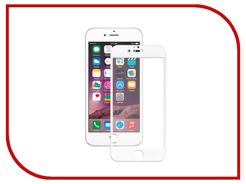 Аксессуар Защитное стекло InterStep 3D Full Cover 0.3mm для iPhone 6 / 6S IS-TG-IPHO6S3DW-000B201 White 45475<br>