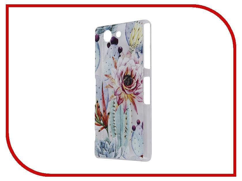 Аксессуар Чехол Sony Xperia Z3 Compact iPapai Флора Цветущий кактус<br>