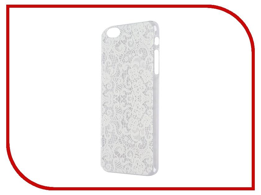 Аксессуар Чехол iPapai для iPhone 6 Plus Кружева White<br>
