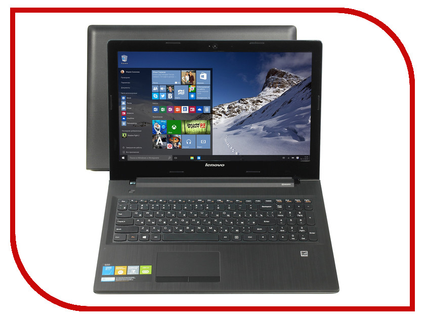 Ноутбук Lenovo IdeaPad G5045 80E301X9RK AMD A6-6310 1.8 GHz/4096Mb/1000Gb/No ODD/AMD Radeon R5 M330 2048Mb/Wi-Fi/Bluetooth/Cam/15.6/1366x768/Windows 10 64-bit<br>