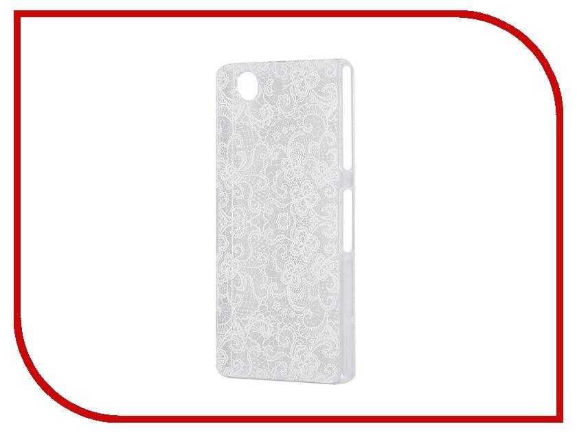 Аксессуар Чехол Sony Xperia Z3 Compact iPapai Кружева White<br>