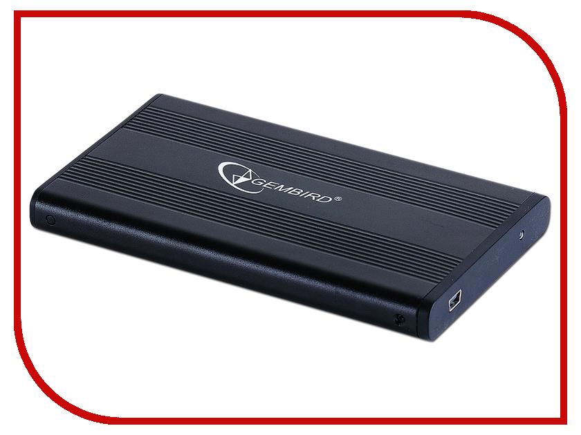 Аксессуар Внешний корпус Gembird EE2-U2S-5 USB 2.0 Black аксессуар gembird ee2 u3s 2 r usb 3 0 red