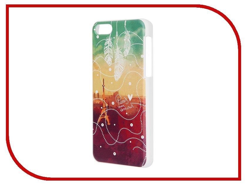 Аксессуар Чехол iPapai для iPhone 5C Города Париж White<br>