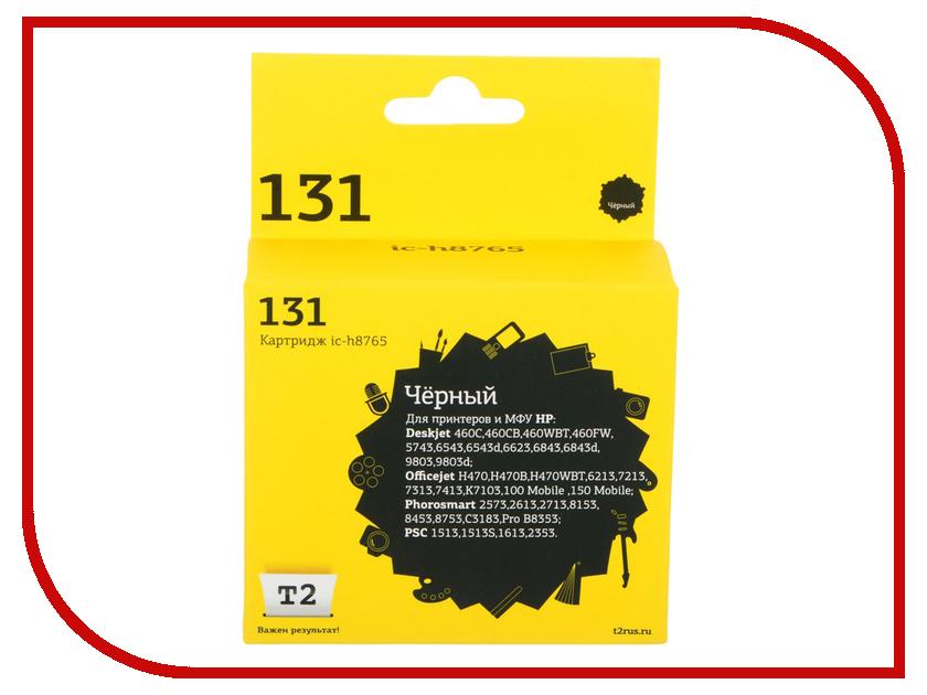 Картридж T2 IC-H8765 для HP Deskjet 460/5743/6543/6843/9803/PSC1513/6213/K7103 Black ic h8727 27 t2