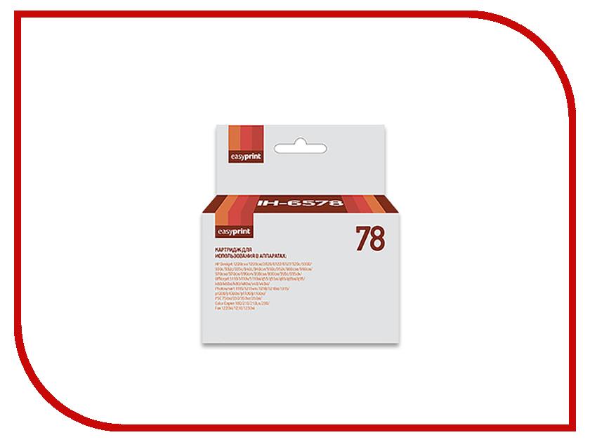Картридж EasyPrint C6578A IH-78 для HP Deskjet 930/940/950/960/970/1220 hp c6578a 78 трехцветный струйный картридж