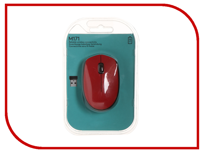 Мышь Logitech M171 Wireless Red-Black 910-004641 мышь logitech m171 wireless red usb 910 004641