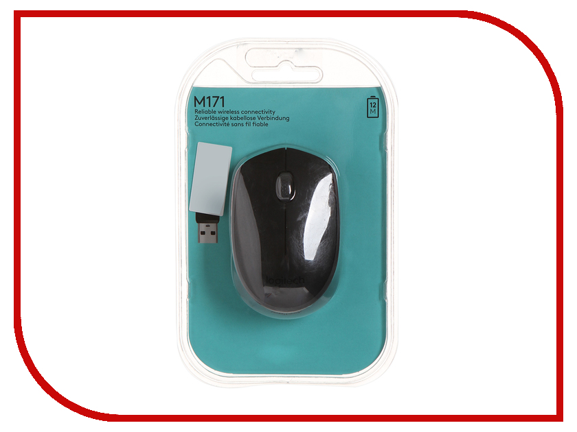 Мышь Logitech M171 Wireless Black-Black 910-004424 мышь logitech m171 wireless red usb 910 004641