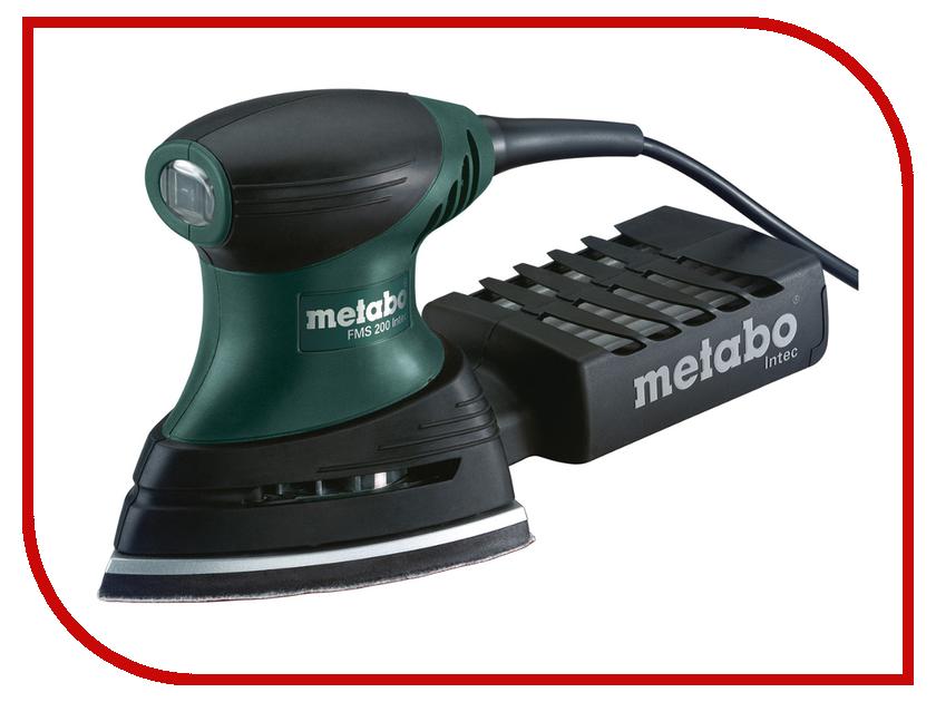 Шлифовальная машина Metabo FMS 200 Intec 100x147mm 600065500 машинка шлифовальная плоская вибрационная metabo fsr 200 intec 600066500