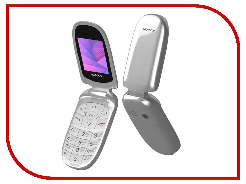 Сотовый телефон Maxvi E1 Silver сотовый телефон maxvi t5 dark blue