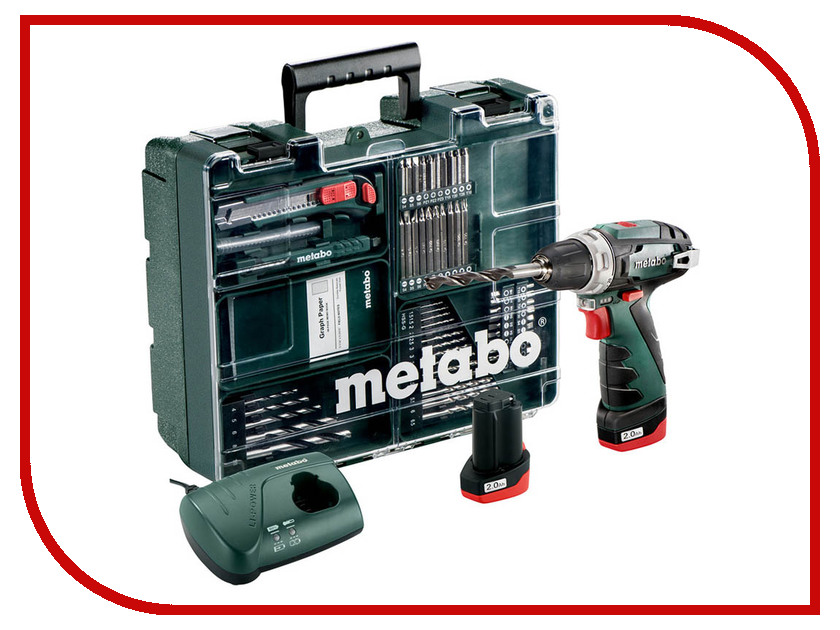 Электроинструмент Metabo PowerMaxx BS Basic Set 2x2.0 600080880 powermaxx ssd