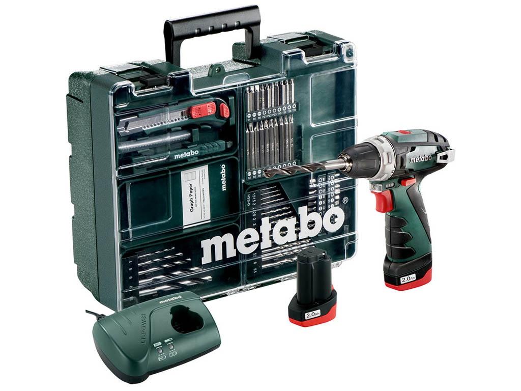 Электроинструмент Metabo PowerMaxx BS 2014 Basic 2.0Ah x2 Case Set2 34 Н·м
