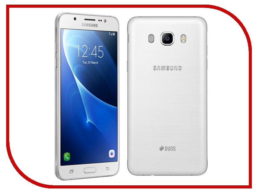Сотовый телефон Samsung SM-J510F/DS Galaxy J5 (2016) White сотовый телефон samsung sm j320f ds galaxy j3 2016 black