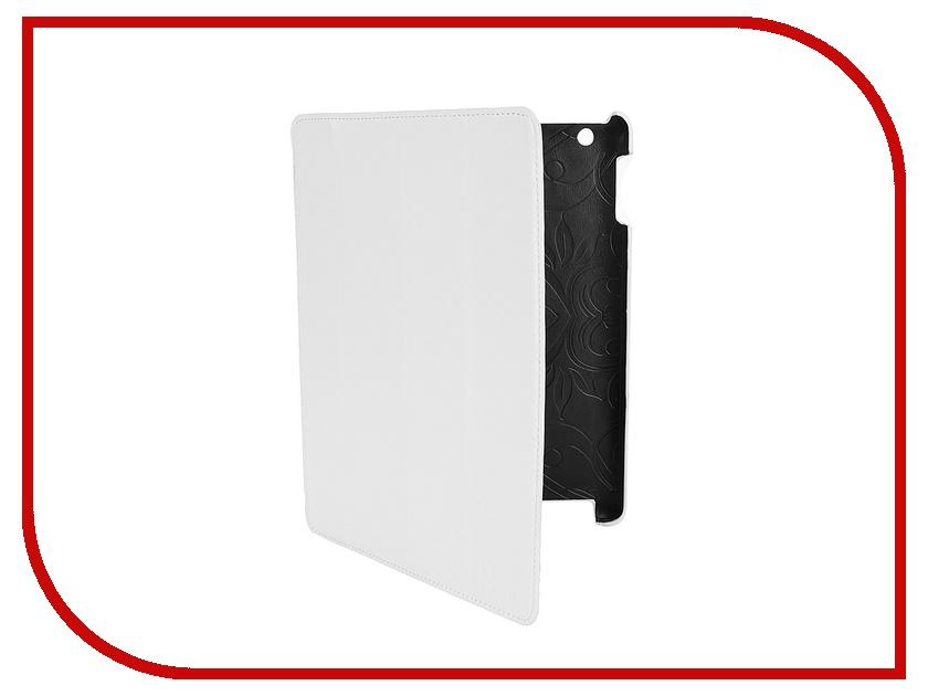 Аксессуар Чехол LuxCase Premium для iPad 2/3/4 Гладкая кожа White 10368<br>