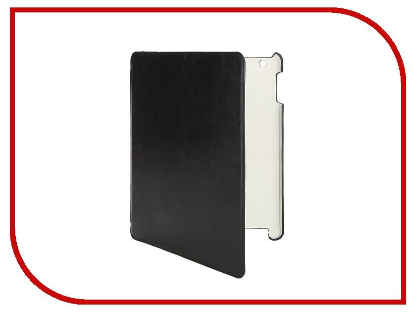 LuxCase Аксессуар Чехол LuxCase Premium для iPad 2/3/4 Гладкая кожа Black 10365