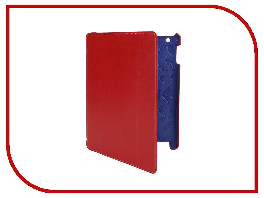 LuxCase Аксессуар Чехол LuxCase Premium для iPad 2/3/4 Гладкая кожа Red 10364