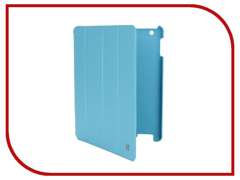 Аксессуар Чехол LuxCase Premium для iPad 2/3/4 Тисненая кожа Light Blue 10363<br>