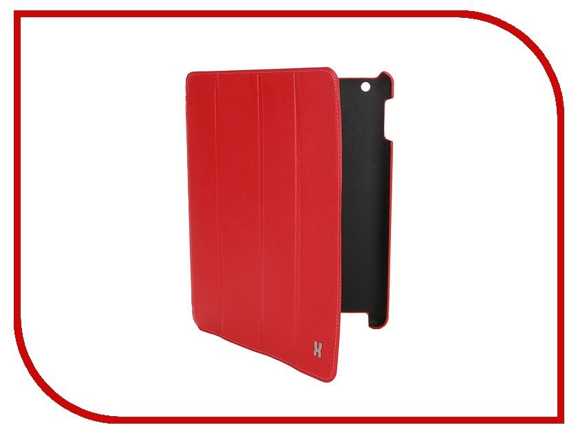 Аксессуар Чехол LuxCase Premium для iPad 2/3/4 Тисненая кожа Red 10362
