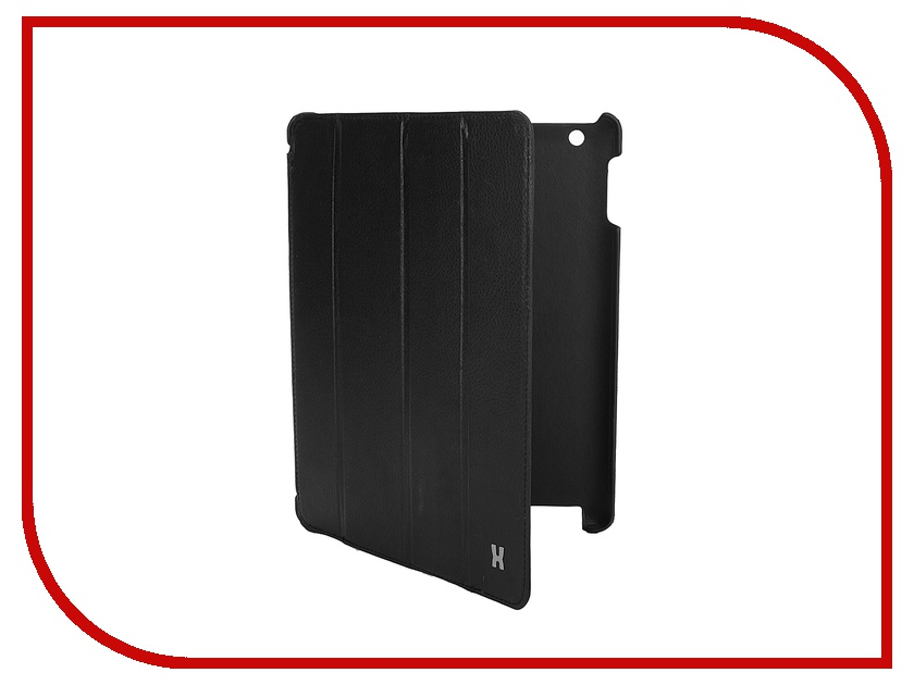 Аксессуар Чехол LuxCase Premium для iPad 2/3/4 Тисненая кожа Black 10361