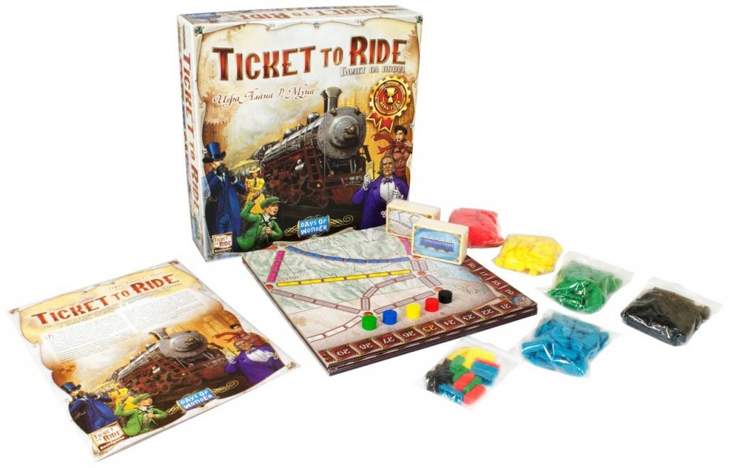 Настольная игра Hobby World Ticket Ride Америка 1530 days of wonder ticket to ride europe board game