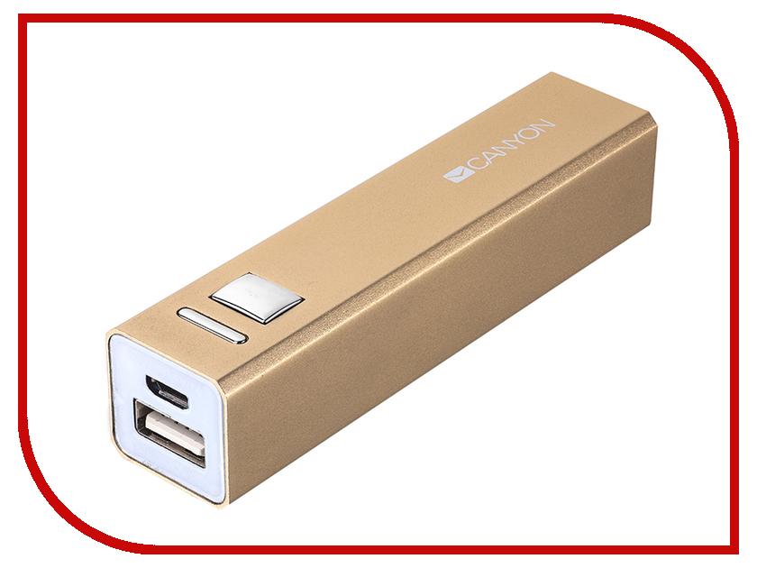 Аккумулятор Canyon CNE-CSPB26 2600mAh Gold CNE-CSPB26GO портативный аккумулятор cne cpb100dg 10000 мач canyon