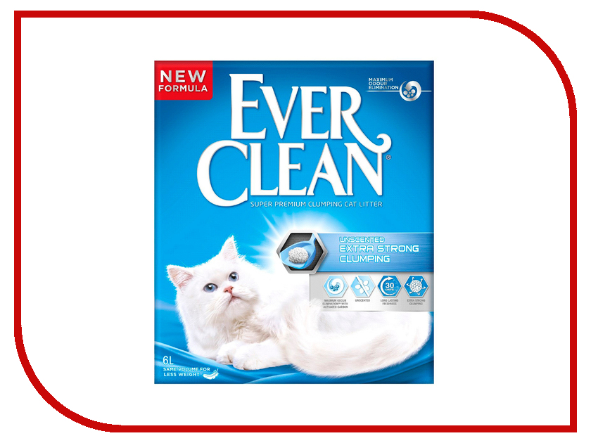 ����������� Ever Clean Extra Strong Clumpin Unscented 6L 59651