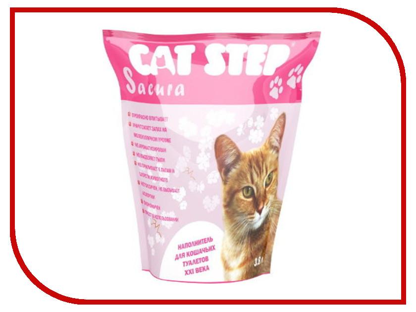 Наполнитель CAT STEP Sacura 3.8L Pink 33858<br>