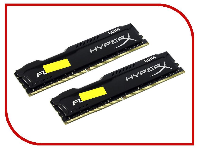 Модуль памяти Kingston HyperX Fury DDR4 DIMM 2400MHz PC4-19200 CL15 - 32Gb KIT (2x16Gb) HX424C15FBK2/32 модуль памяти dimm 8gb 2х4gb ddr4 pc19200 2400mhz kingston hyperx fury white cl15 hx424c15fbk2 8